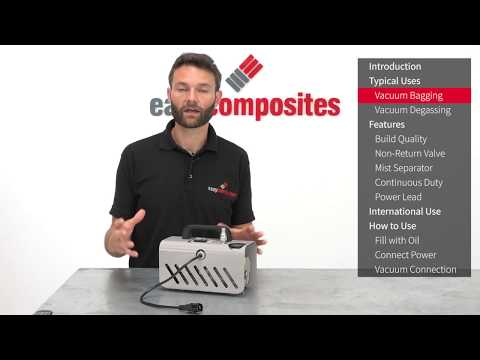 DVP EC.4 Composites Vacuum Pump For Vacuum Bagging - Product Demo