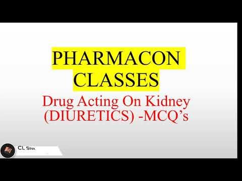 PHARMACIST EXAM--Drug Acting On Kidney (DIURETICS) -MCQ's