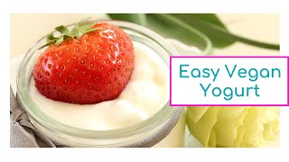 2 Ingredient, 2 Step Easy Homemade Vegan Yogurt in the Instant Pot