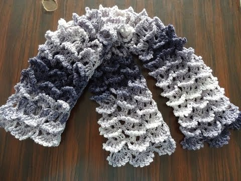 Picot Shell Stitch Scarf - Crochet Tutorial