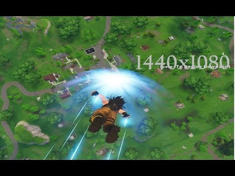 fortnite 1440x1080 resolution test - GamePlay