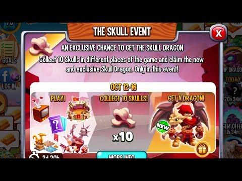 Dragon City - New SKULL DRAGON Event