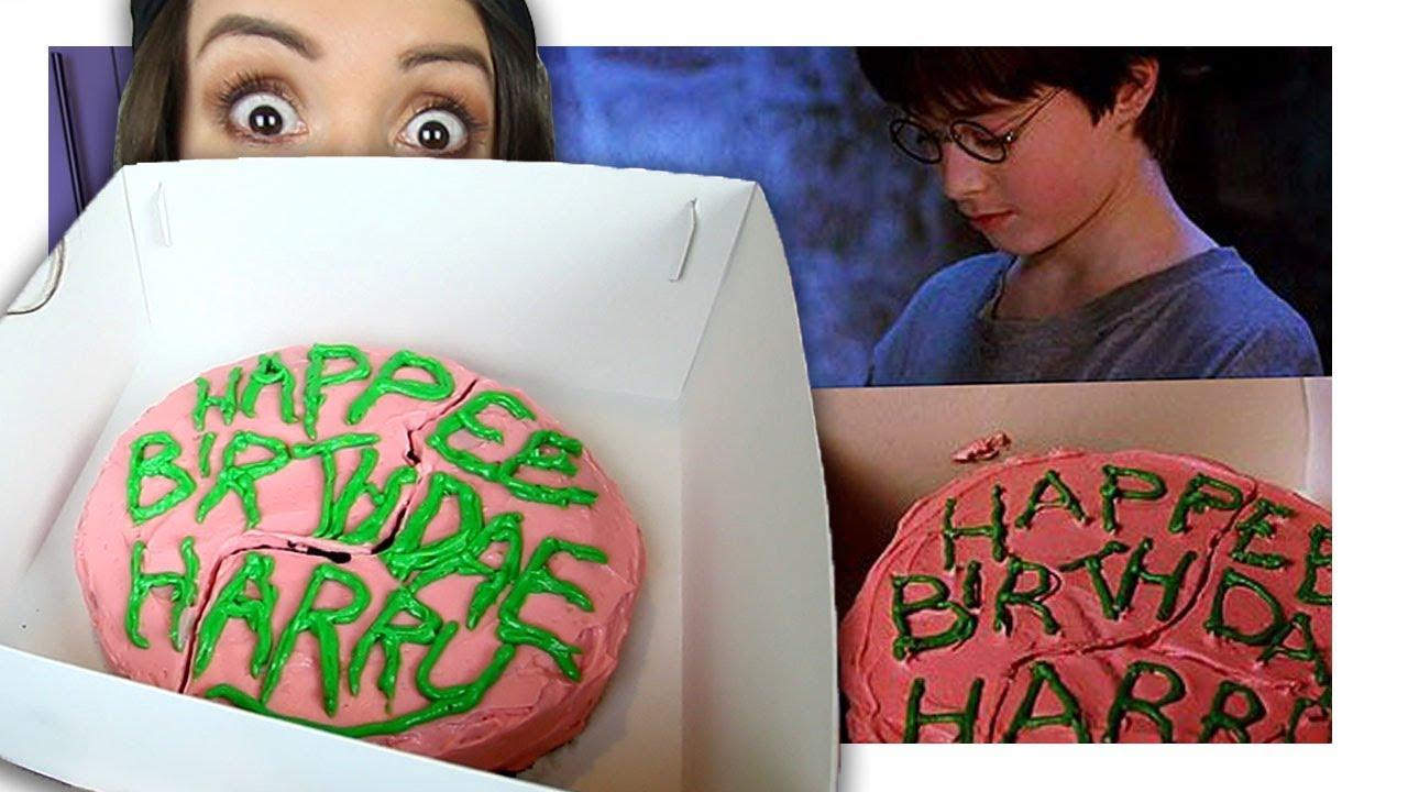 Wie Schmeckt Harry Potters Geburtstagskuchen Von Hagrid Youtube