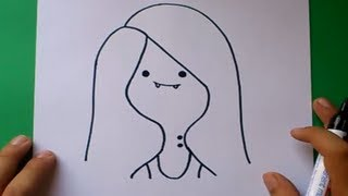 Como dibujar a Marceline paso a paso - Hora de aventuras | How to draw Marceline - Adventure time