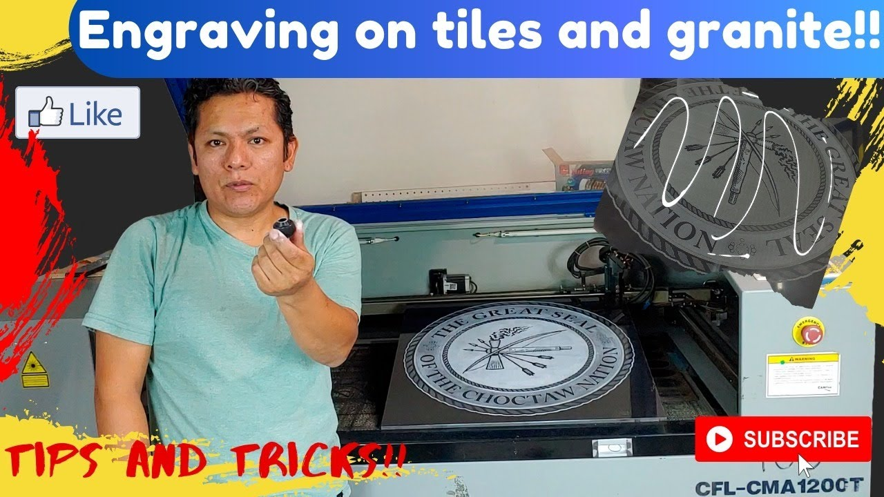 The Secret behind white engraving on tiles and granite | Tips and Tricks for Laser Users Owners