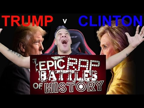 Donald Trump vs Hillary Clinton. Epic Rap Battles of History REACTION!!!