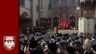 The 520th Convocation, University Ceremony - The University of Chicago