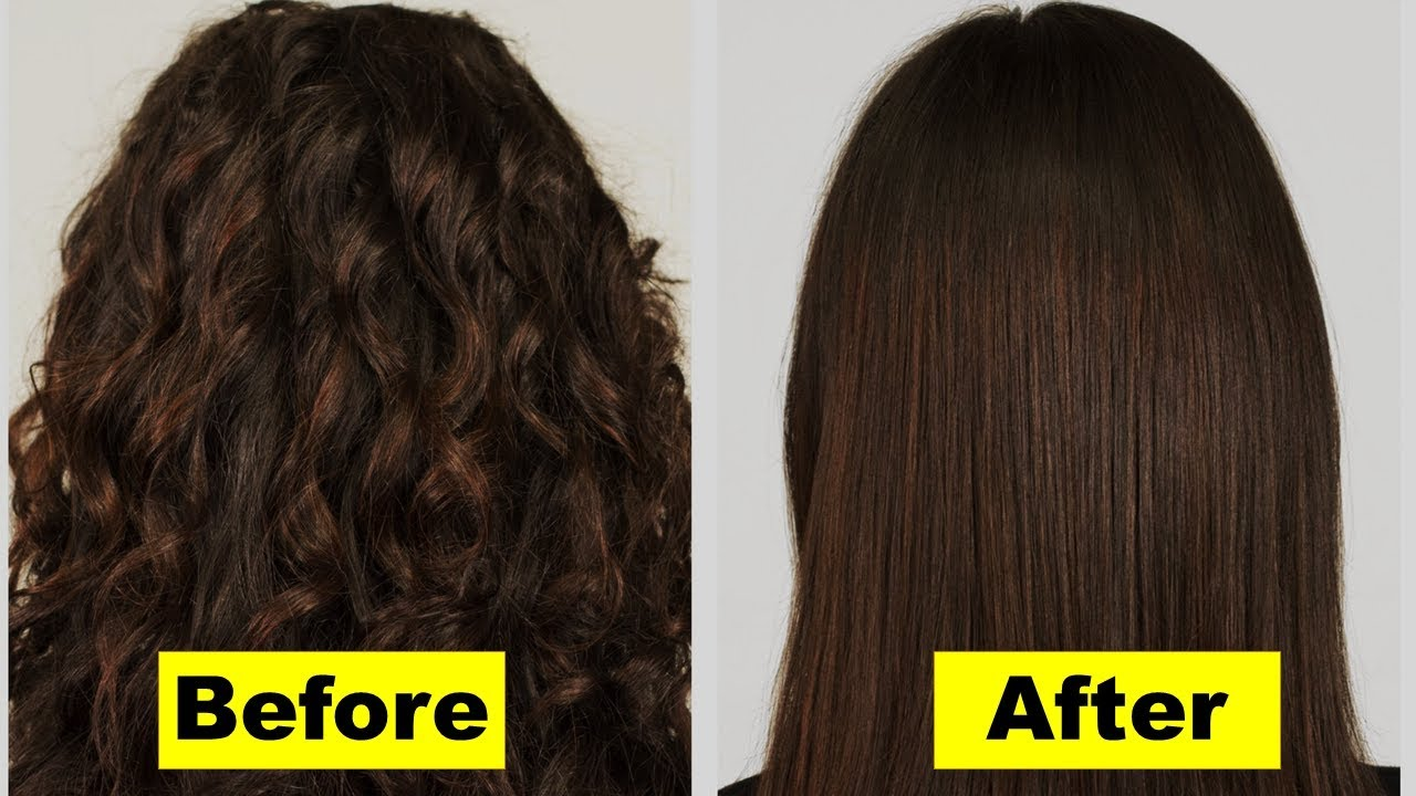 How To Make Hair Straight Naturally Without Straightener Overnight Permanent Straightening Natural Ayurvedic Home Remes
