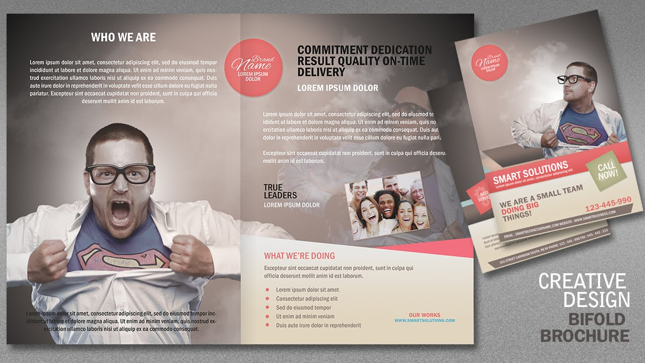 Design a creative bi fold brochure in photoshop part 2 for How to design a brochure in photoshop