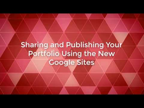 Sharing and Publishing with the New Google Sites
