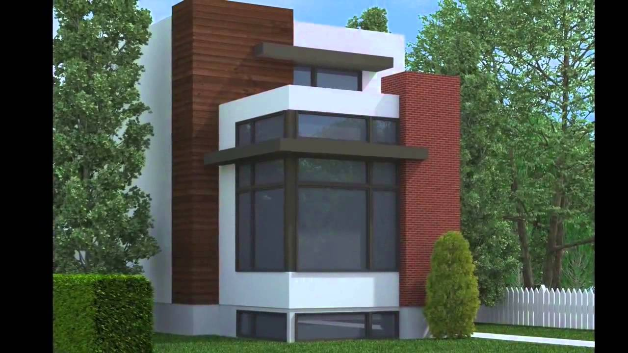 Contemporary Narrow Lot Home Plans - YouTube
