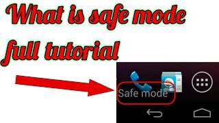what is safe mode in hindi || what is android safe mode || how to enable and disable safe mode