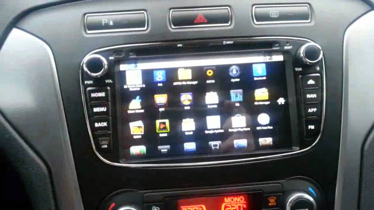 Gps Ford Focus >> ANDROID FORD MONDEO MULTİMEDYA, DOUBLE DIN - YouTube