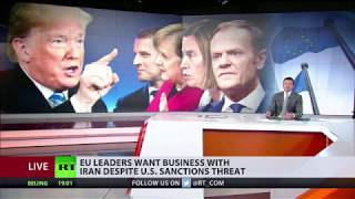 EU leaders say they want business with Iran despite US sanctions threat