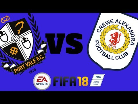 Port Vale Vs Crewe - Fifa 18 Xbox One Gameplay