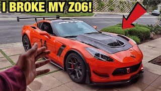 I BROKE MY CORVETTE Z06! Expensive Fix