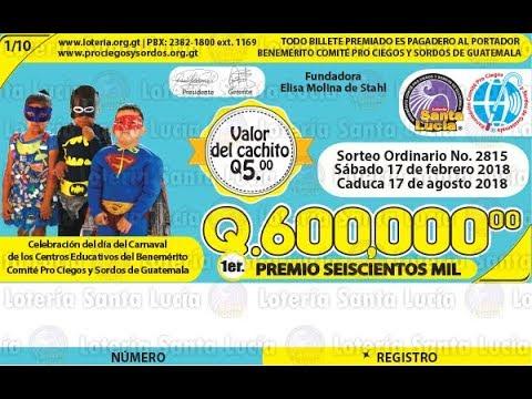 Sorteo Ordinario No. 2815