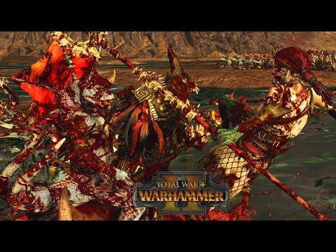 TEHENAUIN vs ARANESSA - Vampire Coast vs Lizardmen // Total War: Warhammer II Online Battle  