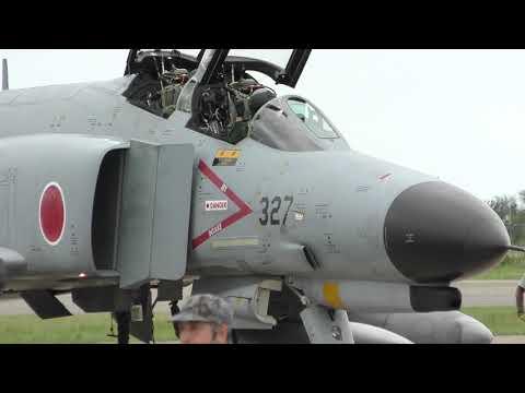 F-2 & F-4 戦闘機 展示機帰投ショー 【小松基地航空祭 2018】 / JASDF 2018 KOMATSU AIR SHOW 20180917