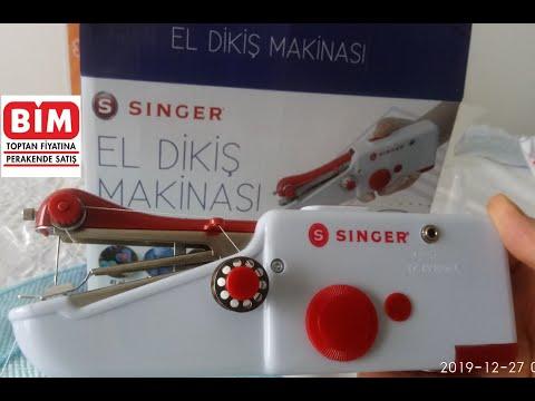 BİM AKTÜEL   Singer El Dikiş Makinası  El Dikiş Makinesi   Kutu Açılımı ve Nasıl Kullanılır  Altyazı