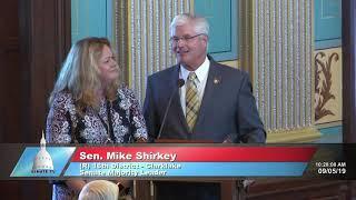 Senator Shirkey honors Alisha Cottrell for her service to the Michigan Senate