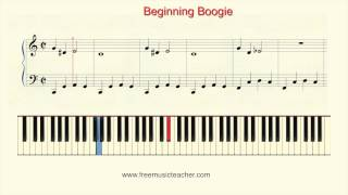 "How To Play Piano: ""Beginning Boogie"" Piano Tutorial by Ramin Yousefi"