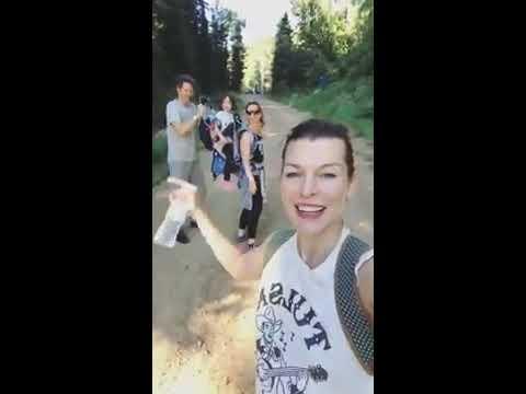 Milla Jovovich family vacation