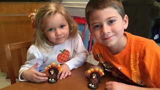 How To Make Oreo Turkeys For Thanksgiving Tutorial  With Josiah And Kayla