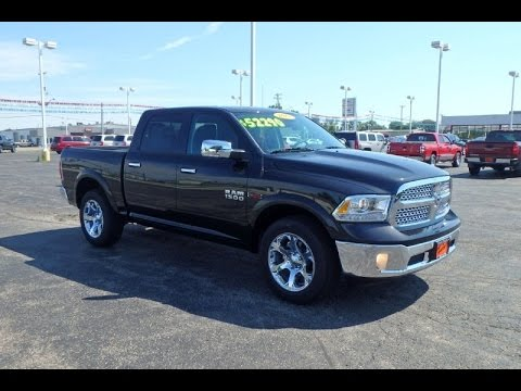 2015 ram 1500 laramie ecodiesel crew cab for sale dayton troy piqua sidney ohio 27367t youtube. Black Bedroom Furniture Sets. Home Design Ideas