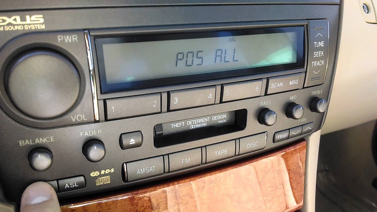 small resolution of lexus ls430 stereo controls explanation