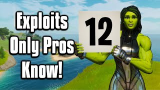 12 Advanced Tips & Tricks That ONLY Pros Use! - Fortnite Battle Royale