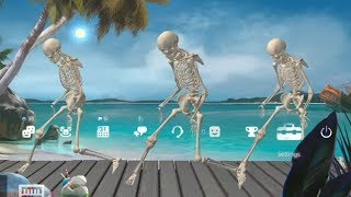 TROPICAL SKELETONS CAN DANCE TO ANY SONG! (scary good...)