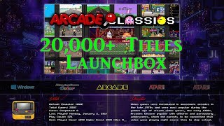 200gb Launchbox PC Retro Gaming Emulation - 20,000+ Titles