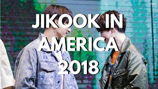 jikook in america 2018