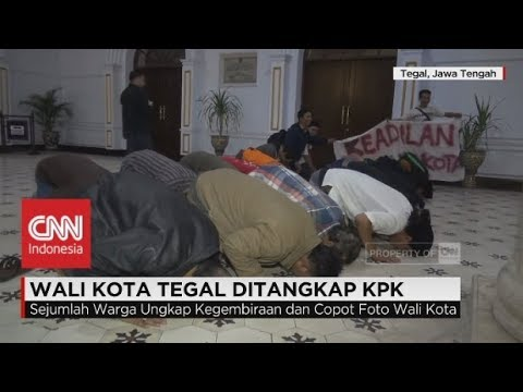 Walikota Tegal Ditangkap KPK, PNS Sujud Syukur