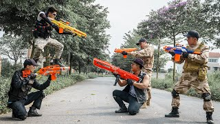 LTT Game Nerf War : Squad Warriors SEAL X Nerf Guns Fight Braum Crazy Dangerous Rubbing