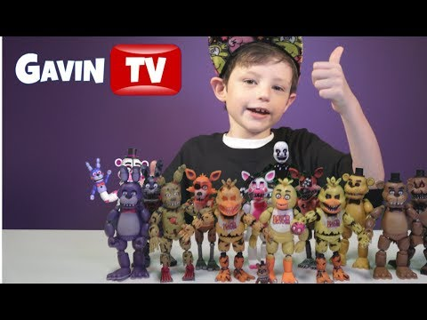 My Entire FNAF Action Figure Collection ! Plus A ProtoType !