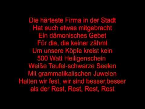 Böhse Onkelz-Firma mit lyric
