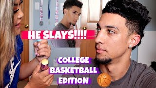 I DO MY BOYFRIENDS MAKEUP CHALLENGE!! || COLLEGE BASKETBALL EDITION 🏀💄