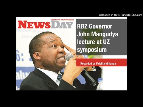 Mangudya UZ lecture on cash shortages & the Zim economy
