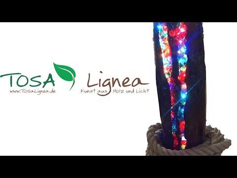 Glassplitter Lichtskulptur light sculpture resin ToSaLignea