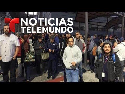 EN VIVO: Más miembros de la caravana migrante se acercan a la frontera.