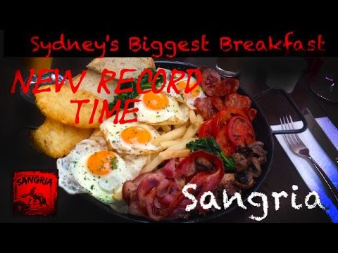 SYDNEYS BIGGEST BREAKFAST RECORD IN 2:29!!