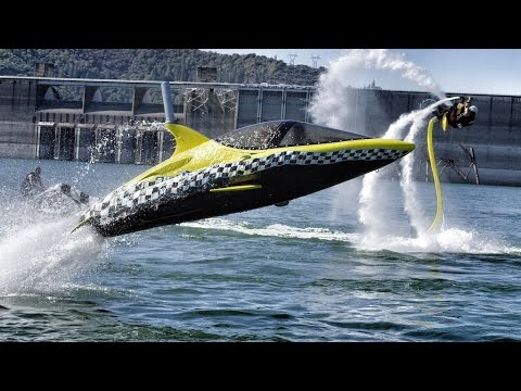 Robotic Dolphin And Flying Water Car   In 4K! With Jetovator And Seabreacher