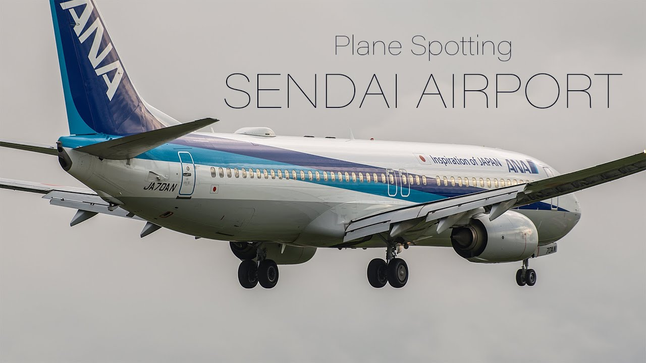 [5K 2.4:1] Plane Spotting at Sendai Airport in September 2020 仙台空港 飛行機の離着陸 | Miyagi Japan