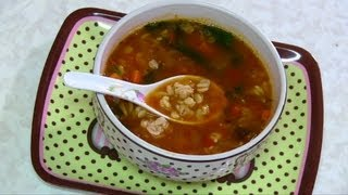 Barley & Beans Soup Video Recipe- Mid Winter Warming Soup By Bhavna