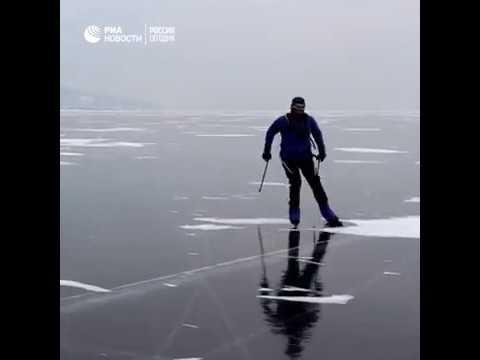 Экстремальная гонка на льду Байкала