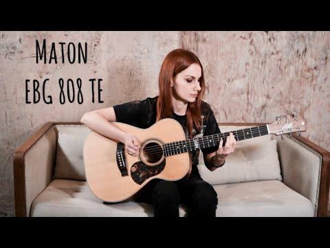 """Тест гитары Maton EBG808TE (""""Tommy Emmanuel"""") и конкурс от SKIFMUSIC"""