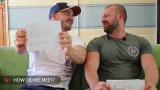 Pornstar couple Matt and Steve play a quiz game with cam4