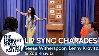 Download Lip Sync Charades with Reese Witherspoon, Lenny Kravitz and Zoë Kravitz Mp3 and Videos